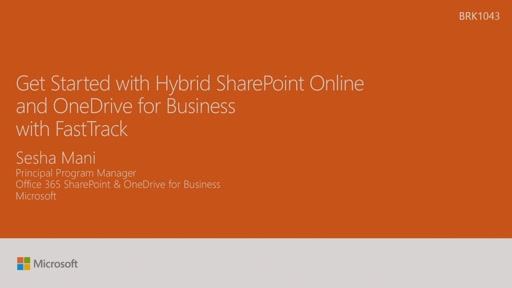 Get started with Hybrid SharePoint Online and OneDrive for Business with FastTrack