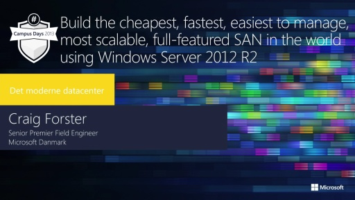 Build the cheapest, fastest, easiest to manage, scalable, full-featured SAN in the world using Windows Server 2012 R2