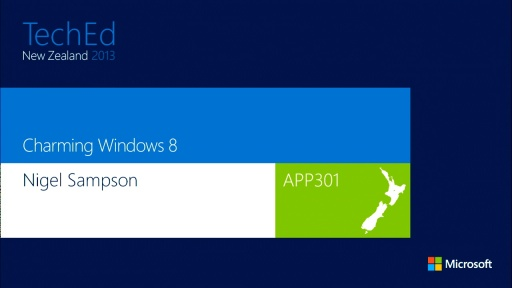 Charming Windows 8