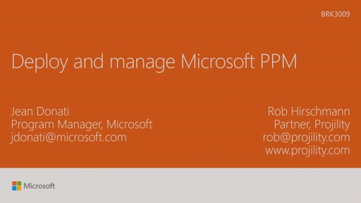 Deploy and manage Microsoft PPM