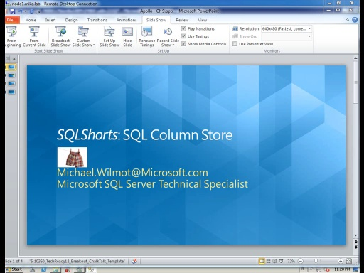 SQLShorts: SQL 2012 Apollo Column Store