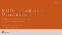 Build client-side web parts for Microsoft SharePoint
