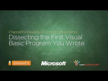 Dissecting the First Visual Basic Program You Created - 03