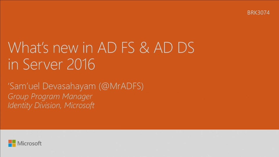 Discover whats new in Active Directory Federation and domain services in  Windows Server 2016