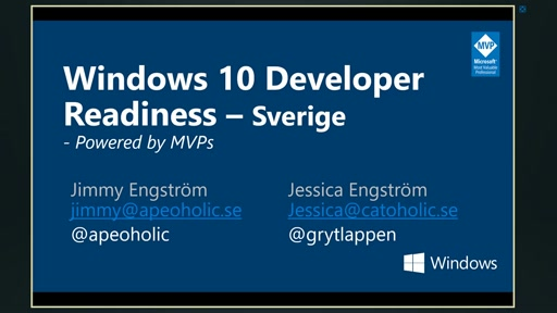 Windows 10 Developer Readiness [Sweden]