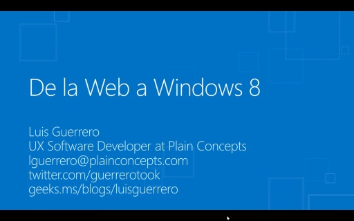 Windows 8 para desarrolladores de HTML5+CSS3+WinJS. De la web a Windows 8