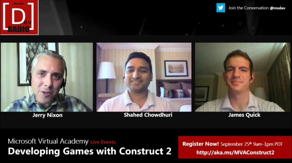 Microsoft DevRadio: MVA Live Event - Developing Games with Construct 2