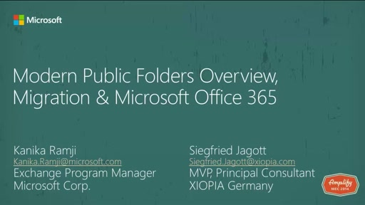 Modern Public Folders Migration & Office 365
