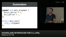 Hourglass Interfaces for C++ APIs