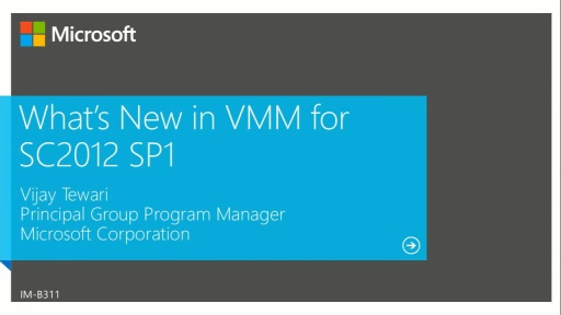 What's New in System Center 2012 Virtual Machine Manager