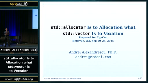 std::allocator Is to Allocation what std::vector Is to Vexation