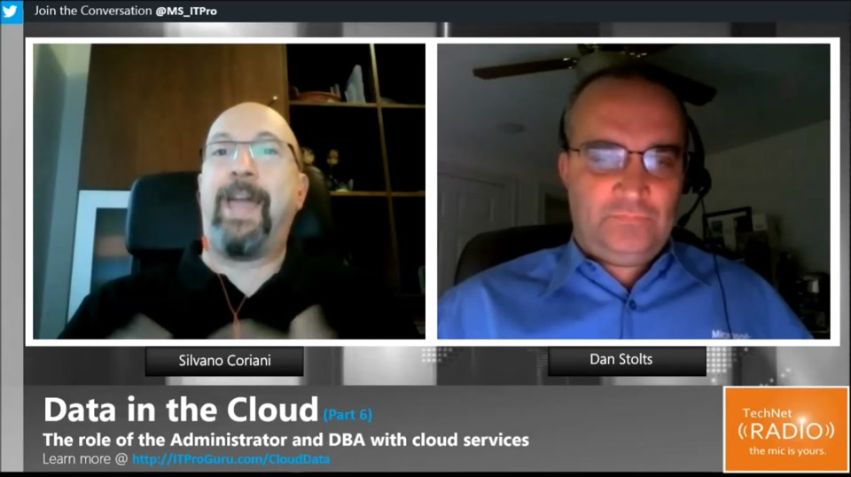 TechNet Radio: Data in the Cloud (Part 6) The role of the DBA within cloud services