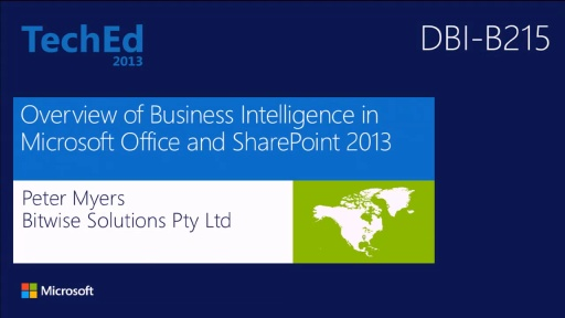 Overview of Business Intelligence in Microsoft Office and SharePoint 2013