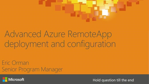 Advanced Azure RemoteApp deployment and configuration