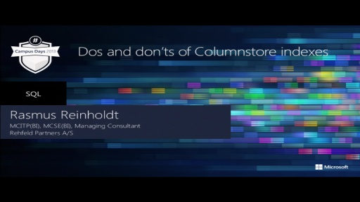 Dos and don'ts of Column store indexes