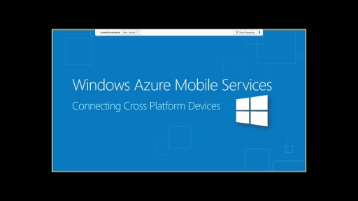 Connecting Cross Platform Devices using Windows Azure Mobile Services