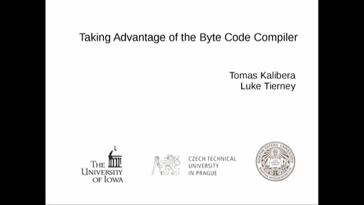 Taking Advantage of the Byte Code Compiler