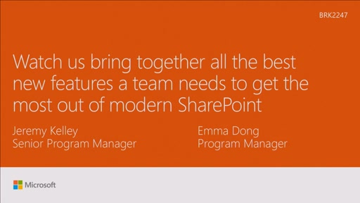 Watch us bring together the best new features a team needs to get the most out of modern SharePoint