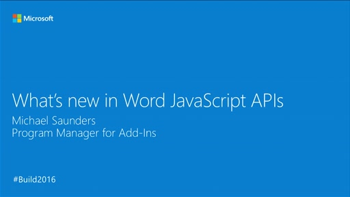 What's New in Word JavaScript APIs