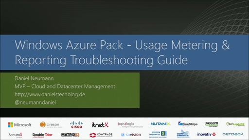 Windows Azure Pack - Usage Metering & Reporting Troubleshooting Guide