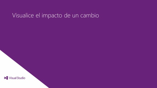 Visual Studio Ultimate 2012: Visualice el impacto de un cambio