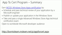 Last Stop: Getting Your Windows App to Market: (01) App Review and Common Certification Blockers