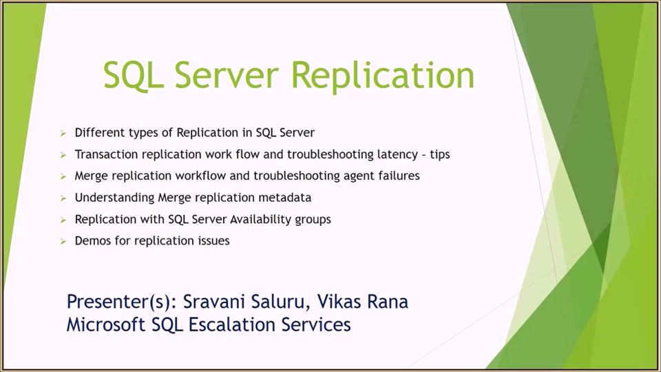 Developer Support Series: SQL Server Replication