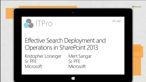 Effective Search deployment and operations in SharePoint 2013