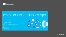 Part 3 - Promoting Your Published App