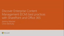 Discover enterprise content management (ECM) powered by SharePoint