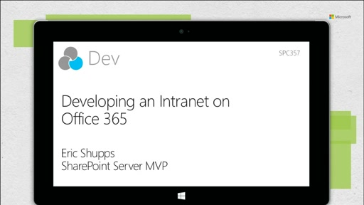 Developing an intranet on Office 365