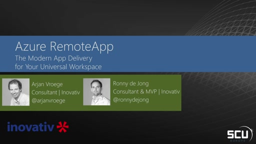 Azure RemoteApp: The Modern App delivery for Your Universal Workspace