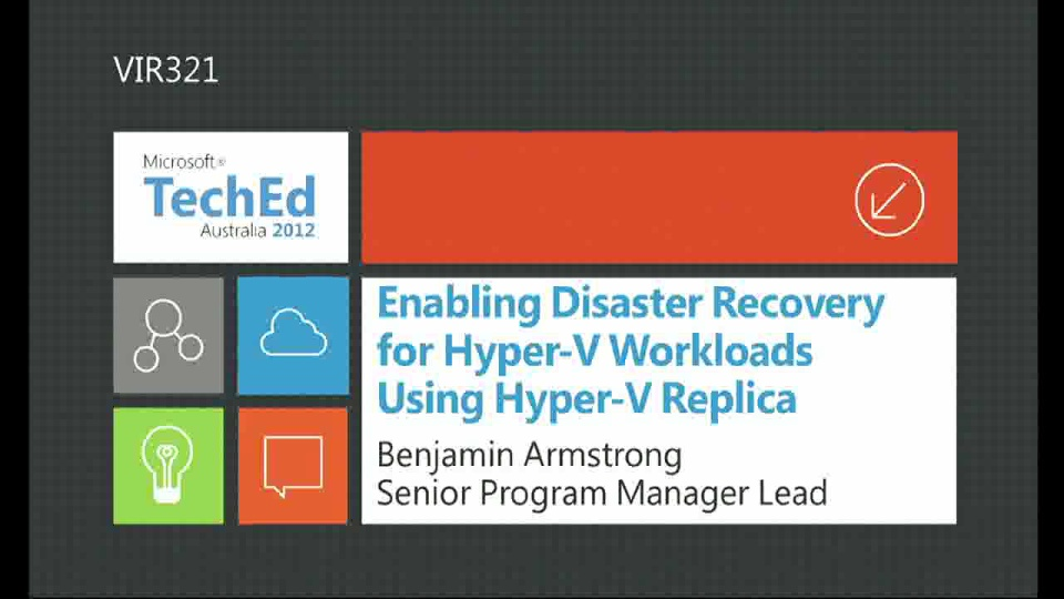 Enabling Disaster Recovery using Hyper-V Replica
