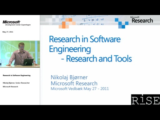 TechTalk - Research in Software Engineering