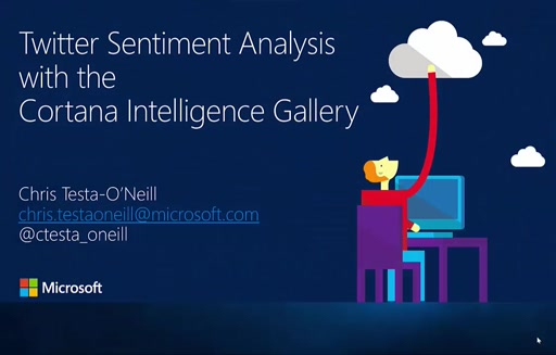 Twitter Sentiment Analysis using the Cortana Intelligence Gallery