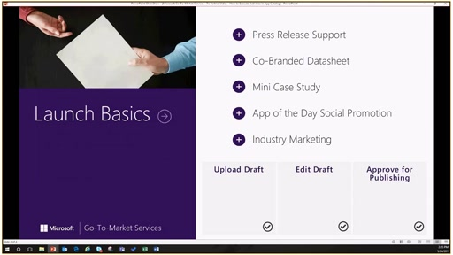 Microsoft Go-To-Market Services Launch Basics Activity Executions Are Now in App Catalog