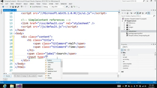 Microsoft DevRadio: Developing for Windows 8 in 1/2 the Time (Part 3) Adding HTML5 Content