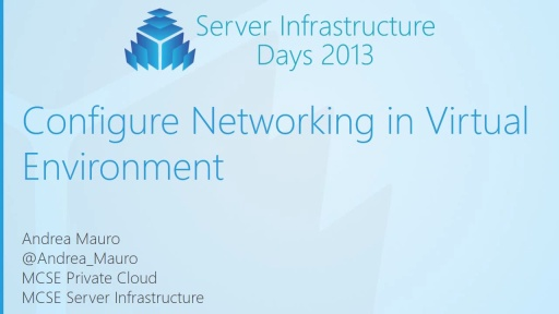 WS05 - Configure Networking in Virtual Environment