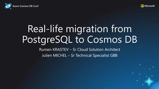 Real Life migration from PostgreSQL to Cosmos DB