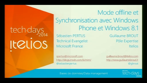 Mode offline et Synchronisation avec Windows Phone et Windows 8.1