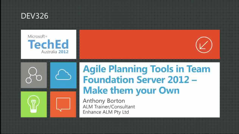 Agile Planning Tools in Team Foundation Server 2012 – Make them your Own