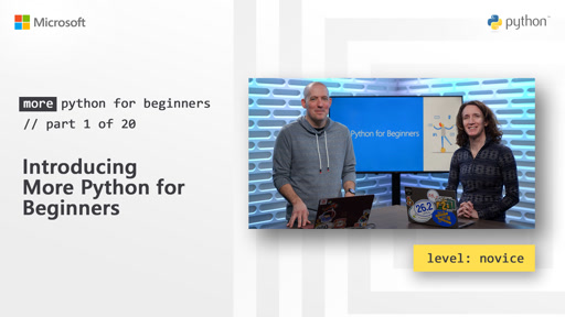 Introducing More Python for Beginners |  More Python for Beginners [1 of 20]