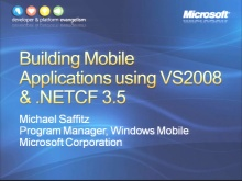 VS2008 Training Kit: Building Mobile Applications using Visual Studio 2008 and the .NET Compact Fram