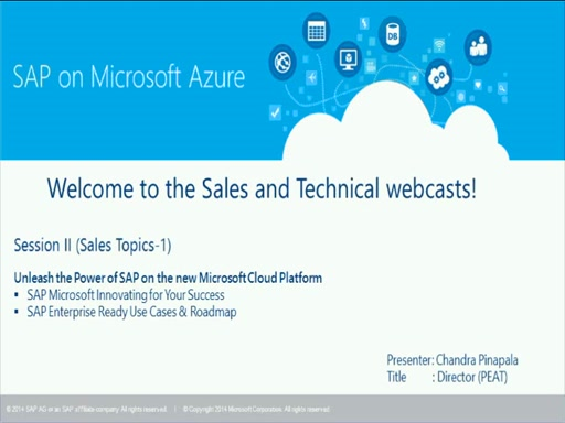 Sales stream Unleash the Power of SAP on the new Microsoft Cloud Platform