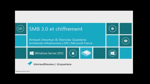 Services Réseaux de Windows Server 2012 - Chiffrement SMB Windows Server 2012