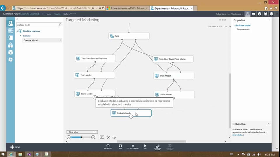 Integrating Azure Machine Learning with Azure SQL Data Warehouse