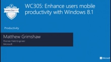 Enhance users mobile productivity with Windows 8.1