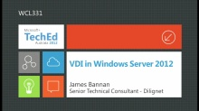 VDI in Windows Server 2012