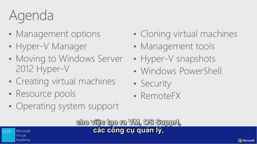 Introduction to Hyper-V Jump Start -Hyper-V Management [Vietnamese Subtitle]