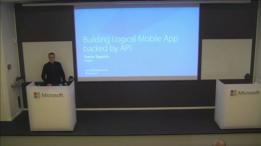 Building Logical Mobile App backed by API